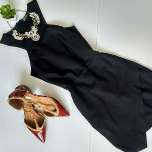Zara Trafaluc Black Asymmetrical Bodycon Dress XS
